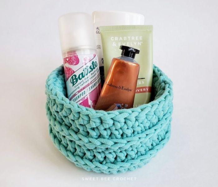 Crochet Basket - Sweet Bee Crochet - Textured Crochet Patterns
