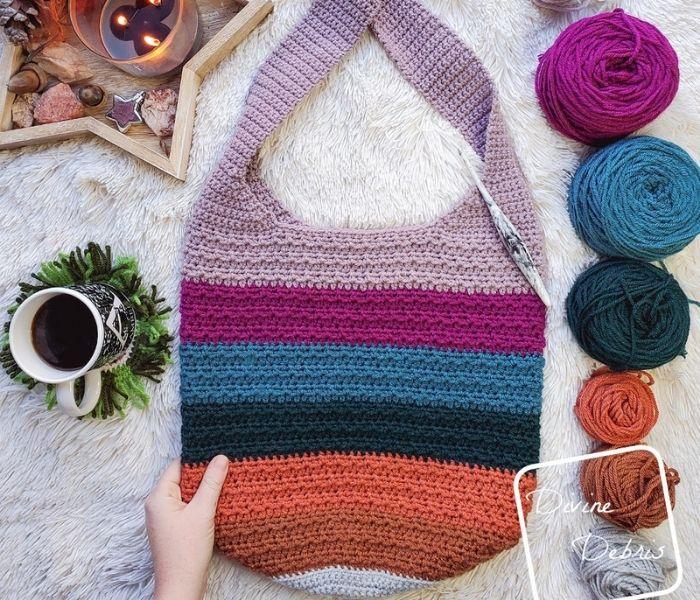 Crochet Alix Tote Bag - Divine Debris - Textured Crochet Patterns with Crochet in the Third Loop
