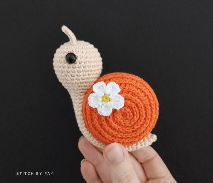 Amigurumi Spring Snail -  Stitch by Fay - Textured Crochet Patterns