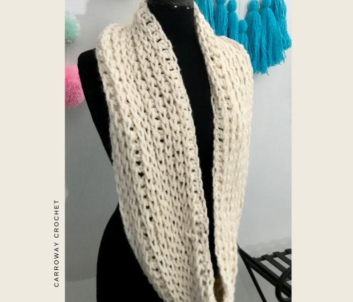 Cascade Infinity Scarf - Carroway Crochet