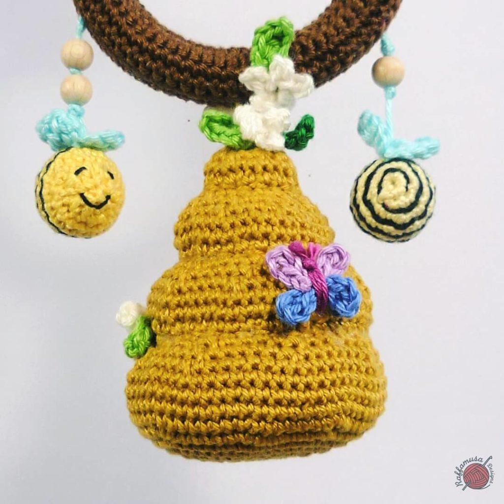 Beehive Baby Rattle