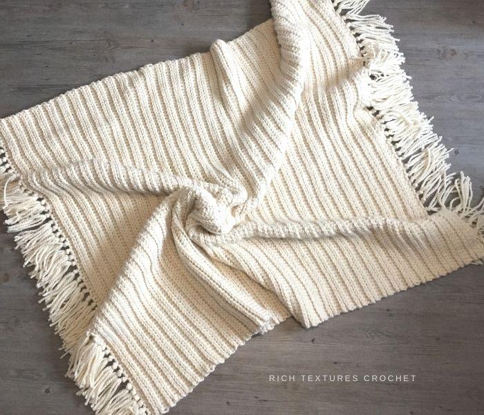 Midwinter Blanket - Rich Textures Crochet