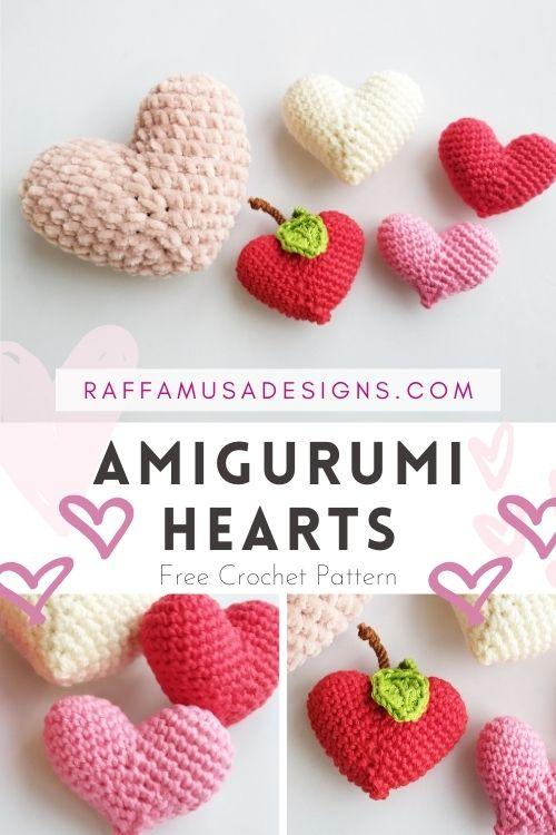 Amigurumi Hearts - Apple - Valentine's Day Gift - Free Crochet Pattern