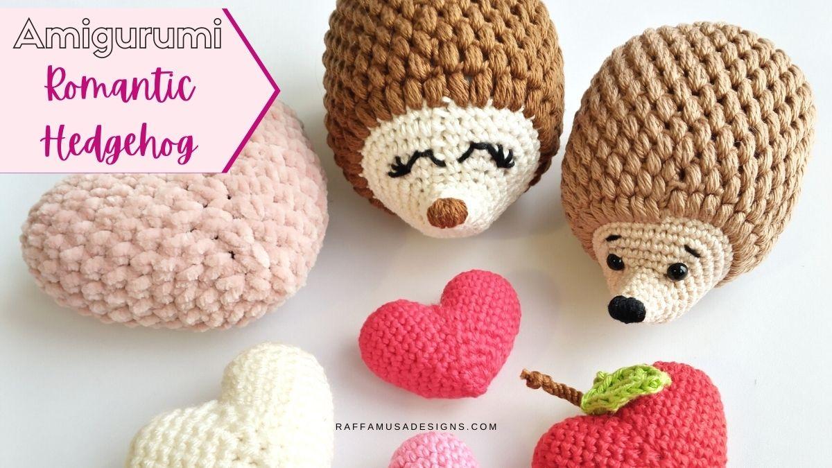Amigurumi Romantic Hedgehog - Free Crochet Pattern - Raffamusa Designs