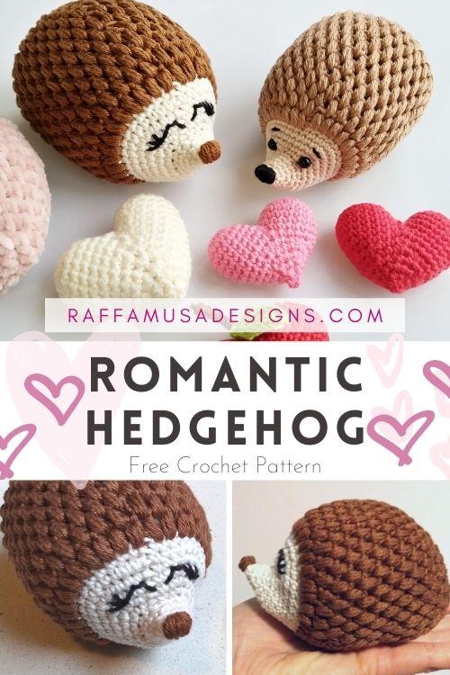 Free Valentines Amigurumi Romantic Hedgehog - Crochet Pattern - Raffamusa Designs