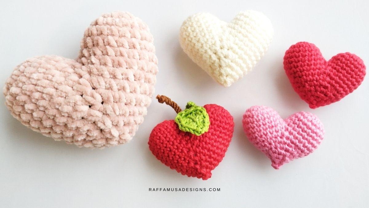 Amigurumi Hearts - Free Crochet Pattern - Raffamusa Designs