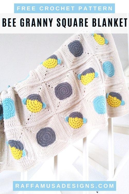 Bee Granny Square Baby Blanket - Pinterest