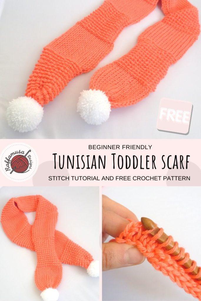 Tunisian Crochet Toddler scarf