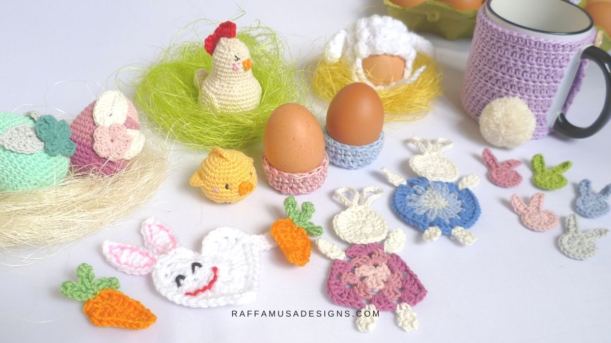 Cutest Crochet Patterns for Easter - Free Patterns from the Web - Raffamusa Designs