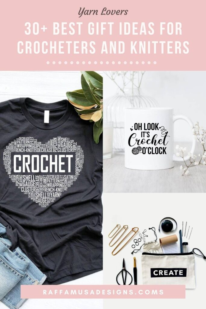 Pin this post to always find this list of awesome gift ideas for crocheters and knitters