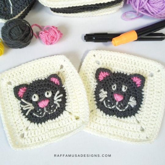 Black Cat Granny Square
