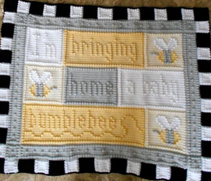 Bumble Bee Baby Blanket - Colors and Shape Design