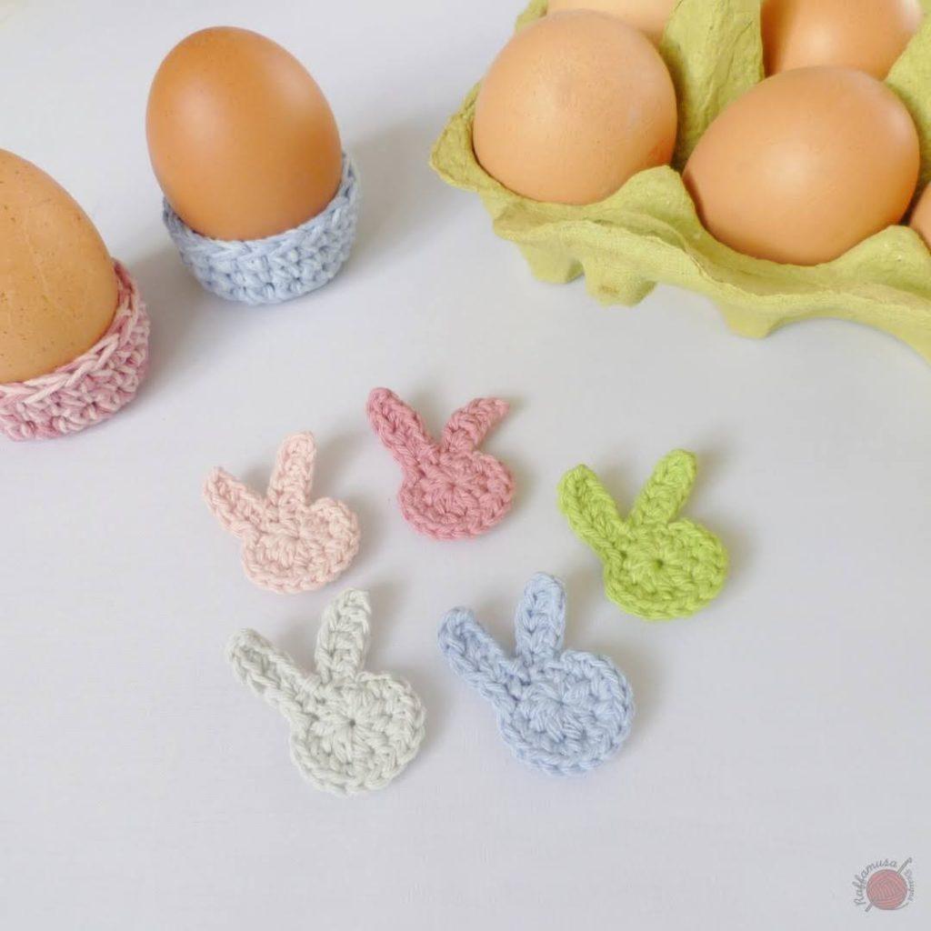Easter Bunny Crochet Applique
