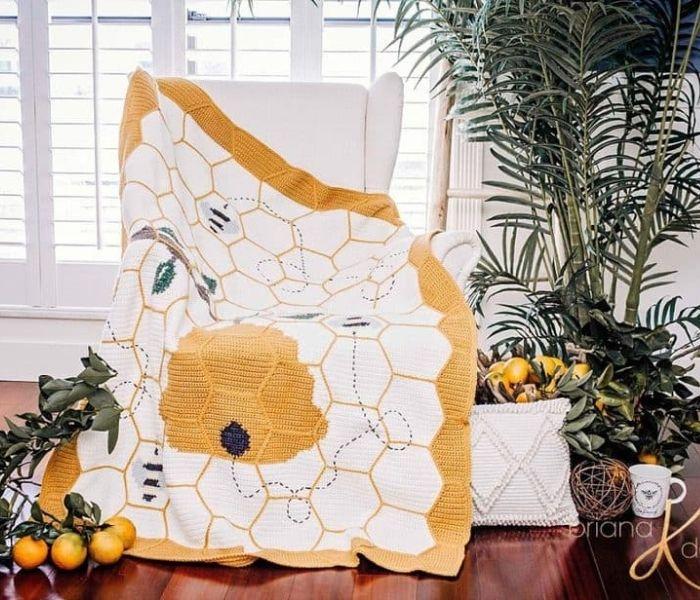 Buzzing Beehive Blanket - Briana K Designs