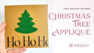 Christmas Tree Ornament Applique - Free Crochet Pattern - Raffamusa Designs