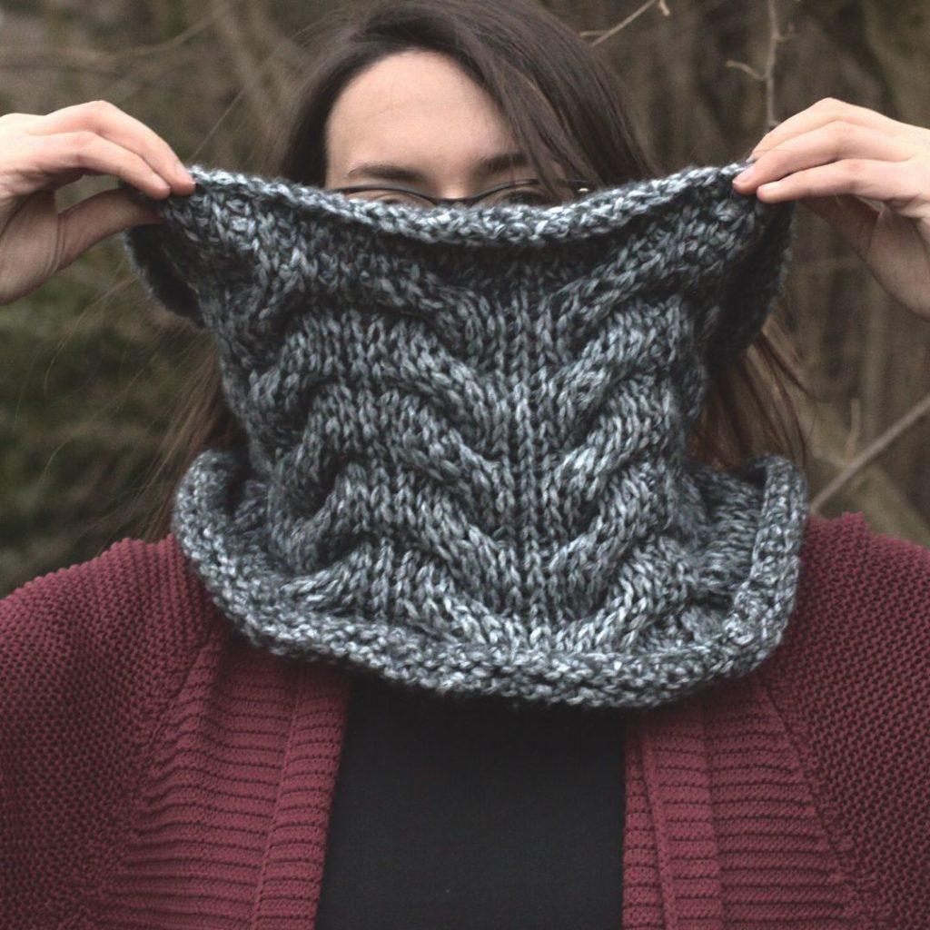 Tunisian Crochet Concept Cowl