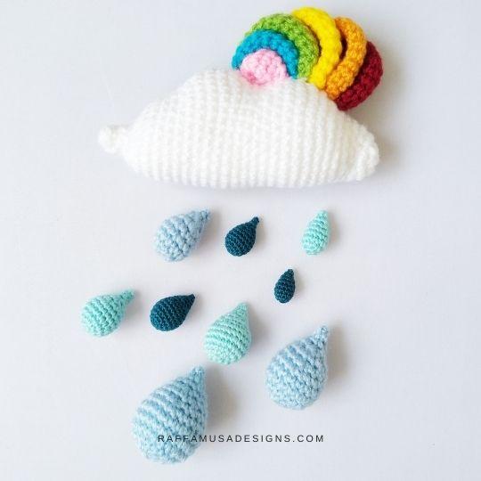Amigurumi Raindrops - Free Crochet Pattern - Raffamusa Designs