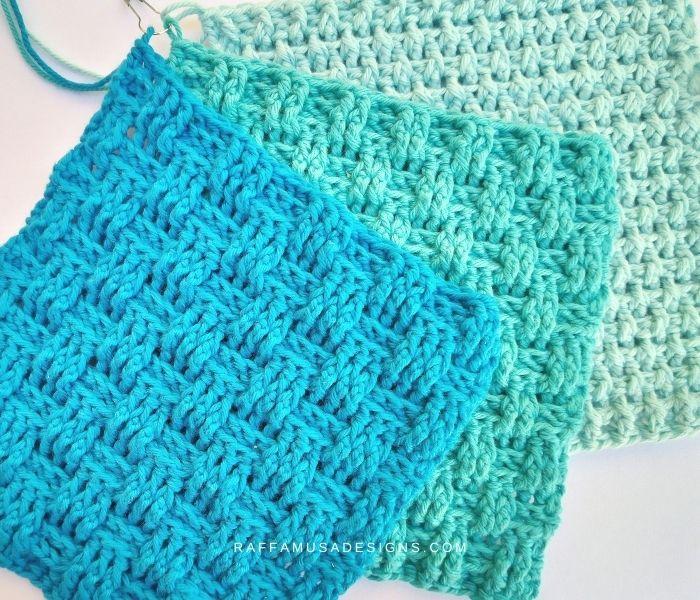 Different kinds of basketweave stitch woven fabric - Raffamusa Designs