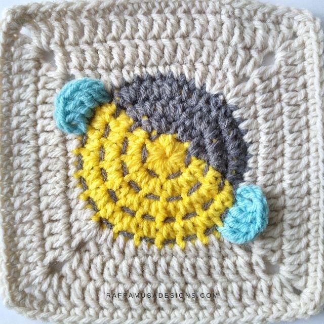 Bee Granny Square - Raffamusa Designs