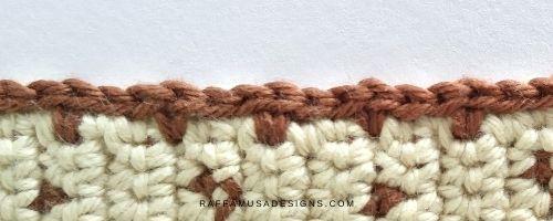 Slip stitch/drop stitch crochet border