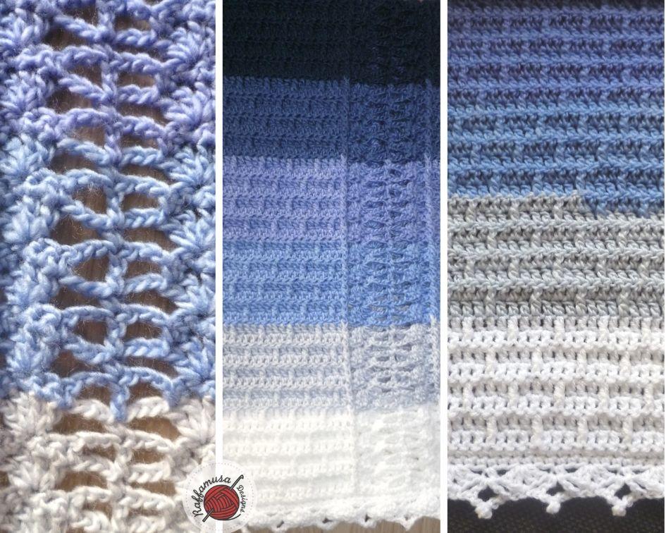 Crochet Charity Blanket, stitch pattern details