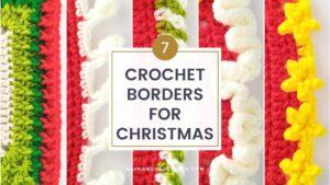 Free Crochet Borders and Edgings for Christmas - Raffamusa Designs