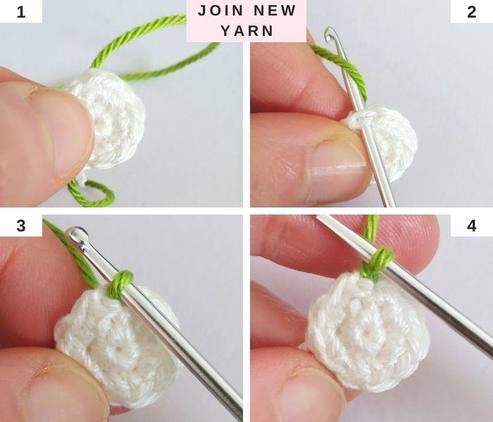 How to join new yarn in crochet - Raffamusa Designs