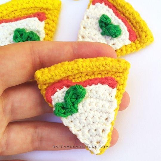 Pizza Slice Amigurumi - Crochet Pattern - Raffamusa Designs