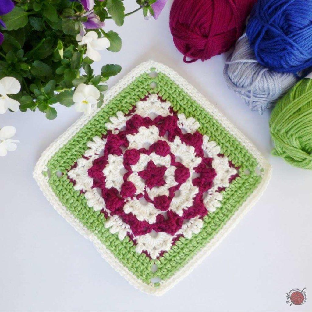 Crochet Popping Flower Square