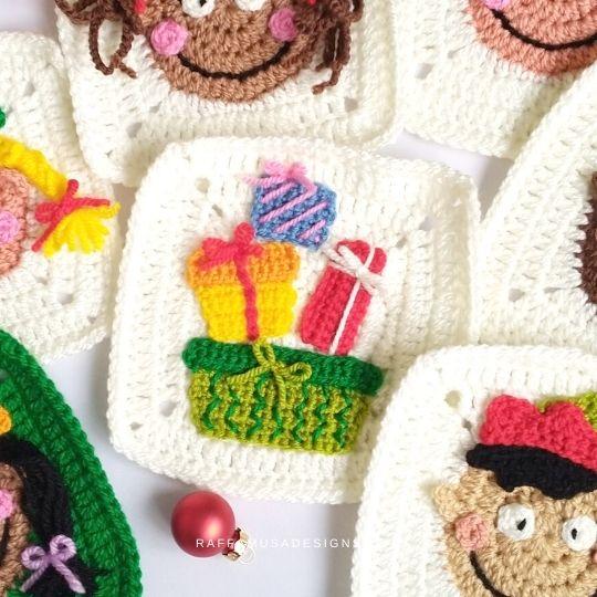 Christmas Presents Granny Square - Raffamusa Designs