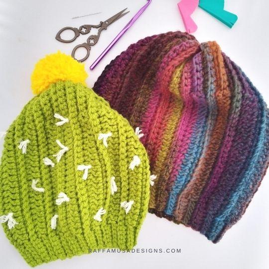 Ribbed Slouchy Hat - Free Crochet Pattern - Raffamusa Designs