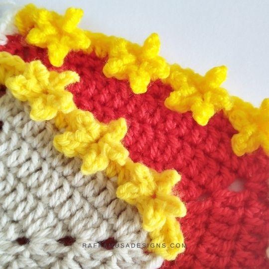Crochet Star Border - Raffamusa Designs