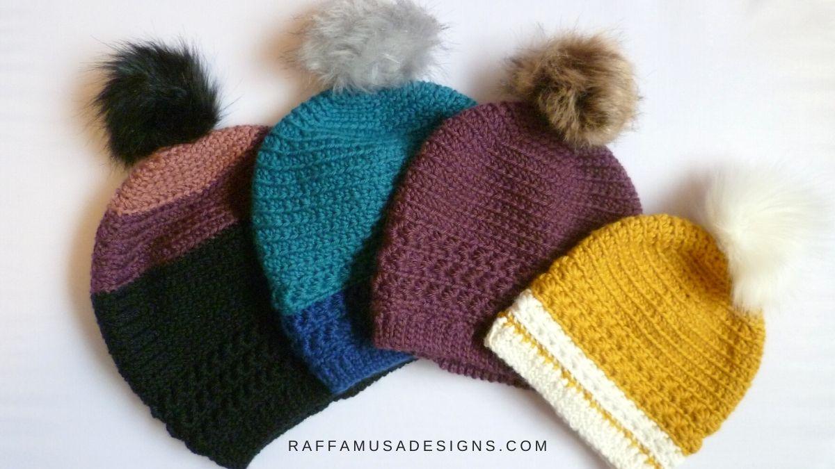 Free Crochet Star Stitch Beanie Pattern - Raffamusa Designs