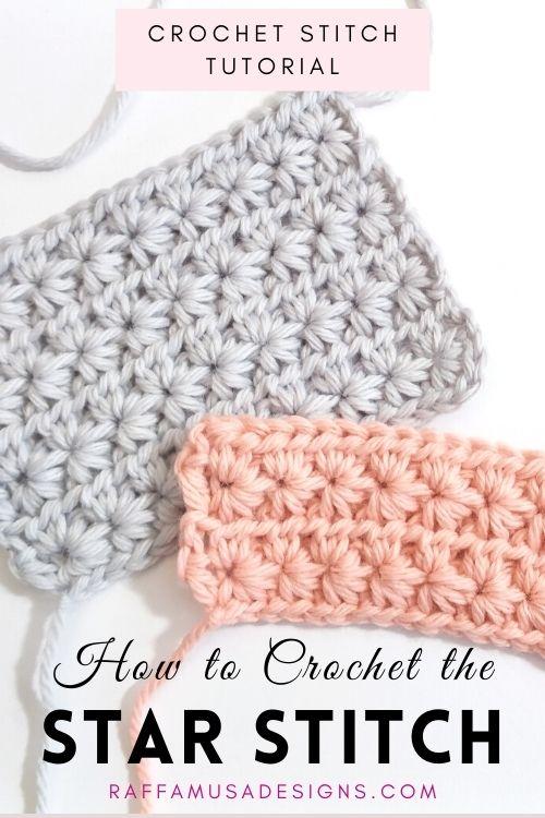 How to crochet the star stitch - Free Crochet Tutorial - Raffamusa Designs