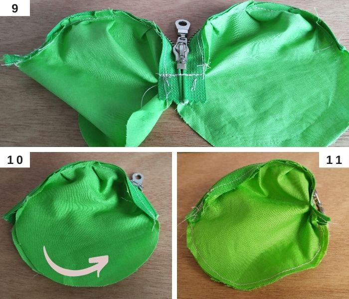 How to Line your Crochet Purse and Add a Zipper - Part 3 - Raffamusa Designs