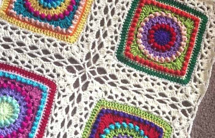 Ways to join granny squares, Celtic lace join