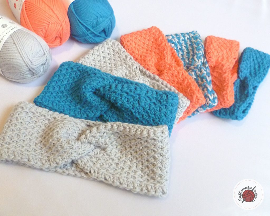 Diagonal Lattice Tunisian Headband - Free Pattern and Tunisian Crochet Stitch Tutorial