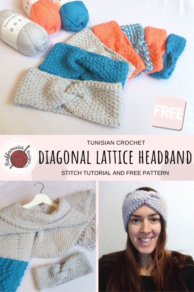 Diagonal Lattice Headband