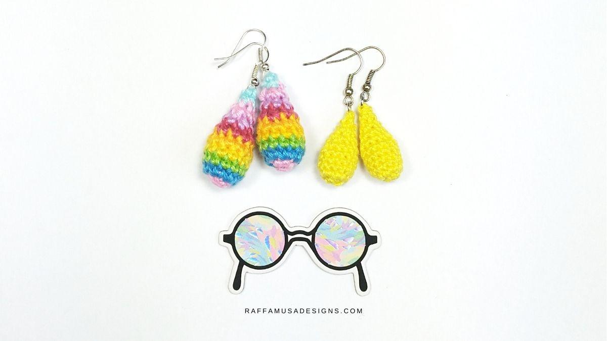 Drops Earrings - Free Crochet Pattern - Raffamusa Designs