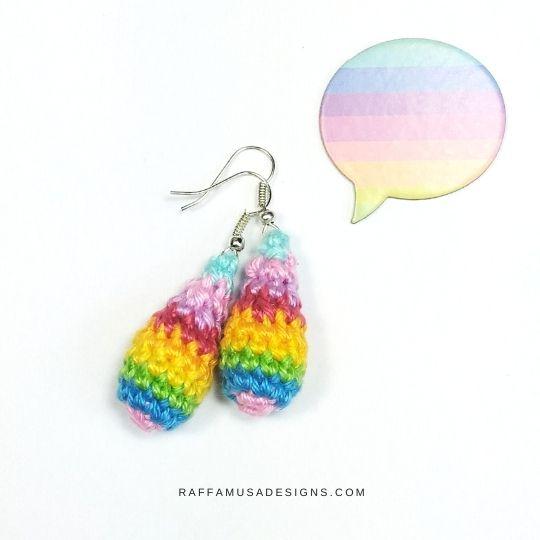 Crochet Drops Earrings - Free Crochet Pattern - Raffamusa Designs