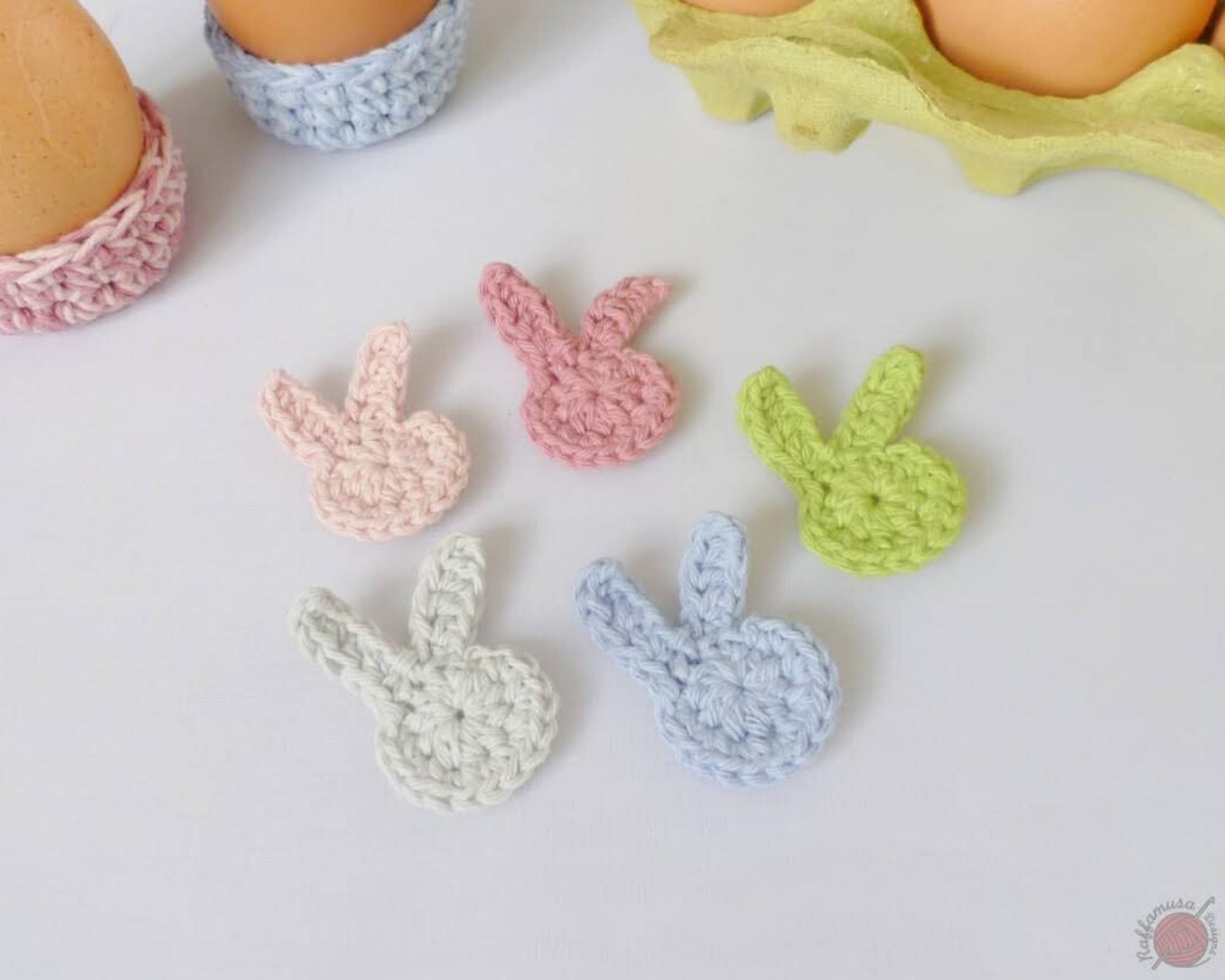 Easter Bunny Applique - Free Crochet Pattern