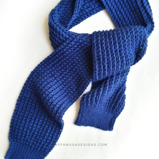Easy Ribbed Scarf - Free Crochet Pattern for Beginners - Raffamusa Designs