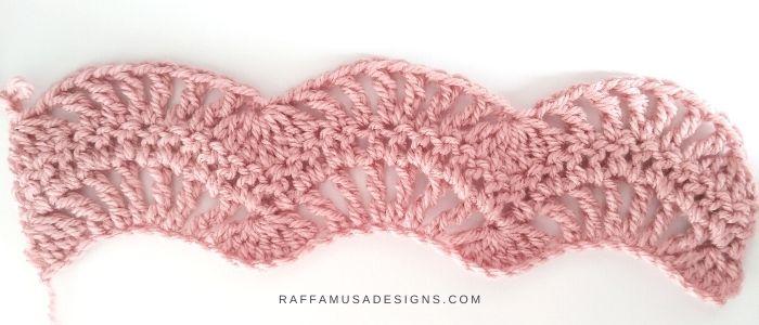 Feather and Fan Stitch Crochet Tutorial - Raffamusa Designs
