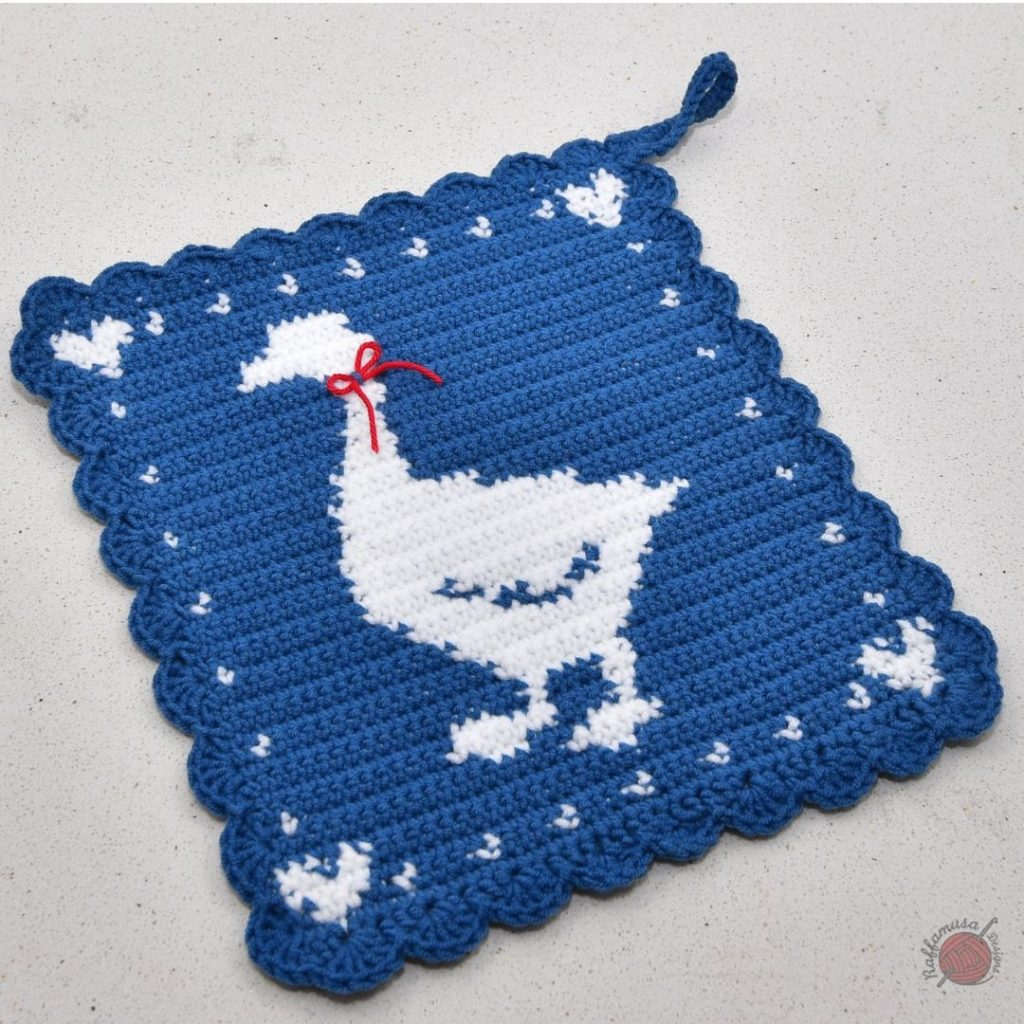 Crochet Goose Potholder