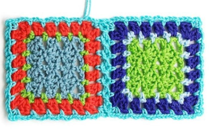 Ways to join granny squares, flat braid join