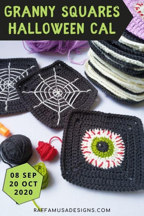 Eye and Spiderweb Halloween Granny Squares