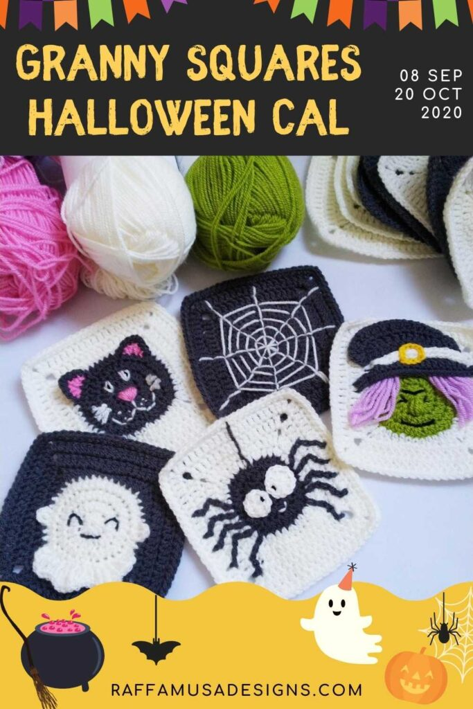 Pin this CAL on Pinterest. Get Halloween Granny Square patterns directly in your e-mail inbox!