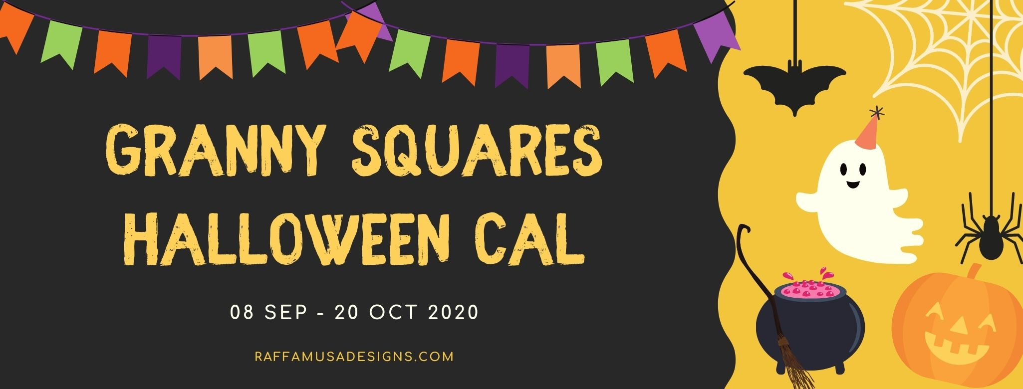 Halloween Granny Squares CAL