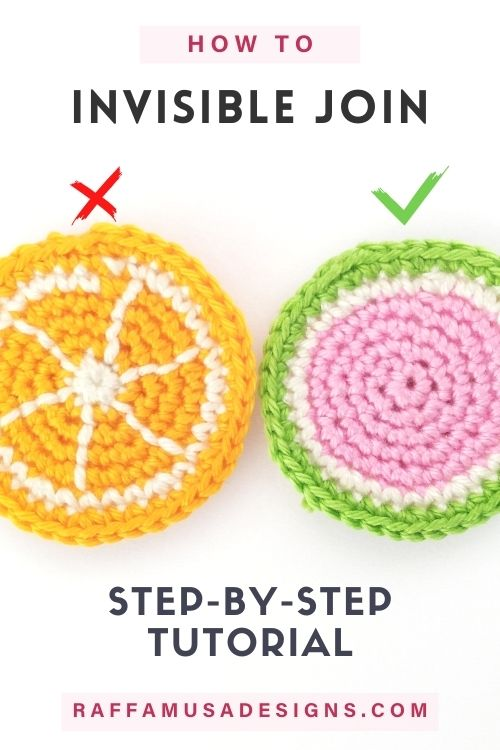 How to join crochet rounds with the invisible join - Free Pattern - Raffamusa Designs