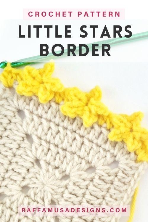 How to Crochet the Little Stars Border Edging - Free Crochet Pattern - Raffamusa Designs